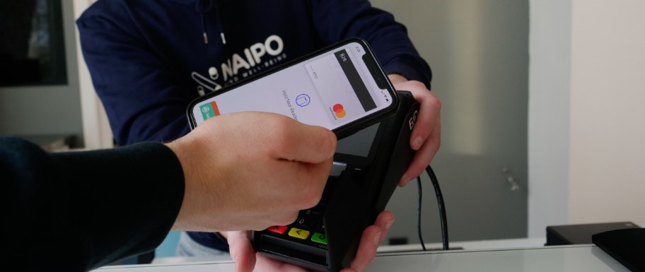 Contactless payment using smartphone.